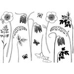 Build A Spring Flower Garden - Crafty Individuals Unmounted Rubber Stamp
