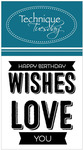 Happy Birthday Wishes Clear Stamp - Technique Tuesday