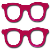 Lipstick Nerd Love Wooden Glasses - Maya Road