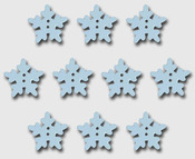 White Snowflakes Wooden Buttons - Maya Road