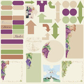 Wrath Of Grapes Journal Sticker Sheets - 12 Pack