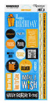 Birthday Phrases Die Cut Sticker Sheets - 12 Pack