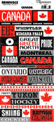 Canada Phrase Sticker Sheets - 12 Pack