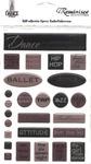 The Dance Studio Epoxy Embellishment Sheets - 3 Pack
