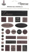 The Dance Studio Epoxy Embellishment Sheets - 3 Pack