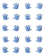 Blue Mini Hands Brads - Artemio