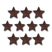 Stained Wood Star Buttons - Maya Road
