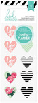 Hello Beautiful Memory Planner Puffy Stickers - Heidi Swapp