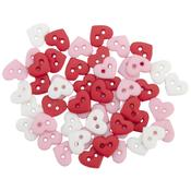 Micro Valentine Heart Buttons