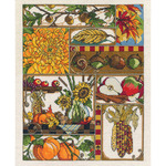 "11""X14"" 14 Count - Autumn Montage Counted Cross Stitch Kit"