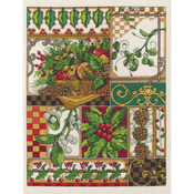 """11""""X14"""" 14 Count - Winter Montage Counted Cross Stitch Kit"""