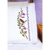 "20""X30"" - Hummingbird Pillowcase Pair Stamped Cross Stitch"