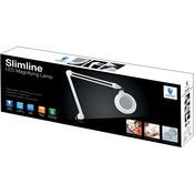 """White - Slimline LED 5"""" Magnifying Lamp"""