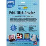 "White 8.5""X11"" 12/Pkg - Print-Stitch-Dissolve Stabilizer For Embroidery"