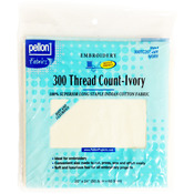 """Ivory 20""""X24"""" - 300 Thread Count Cotton Fabric For Embroidery"""
