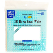 """White 20""""X24"""" - 300 Thread Count Cotton Fabric For Embroidery"""
