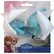 "Olaf - Disney Frozen Grosgrain 1"" Ribbon Hair Bows"