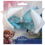 "Olaf - Disney Frozen Grosgrain 1"" Ribbon Hair Bows"
