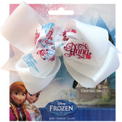 "Names - Disney Frozen Grosgrain 1"" Ribbon Hair Bows"
