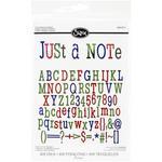Just A Note Alphabet - Sizzix Thinlits Dies