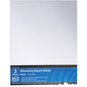 "11""X14"" Crescent White Mounting Board Value Pack 3/Pkg"