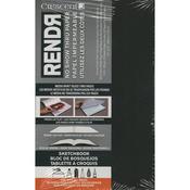 "32 Sheets - RENDR No Show Thru Lay Flat Sketch Book 3.5""X5.5"""