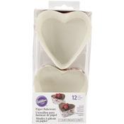 "3"" Heart - Disposable Bakeware 12/Pkg"