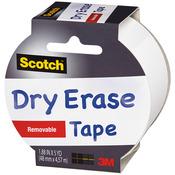 "White - Scotch (TM) Dry Erase Tape 1.88""X5yd"