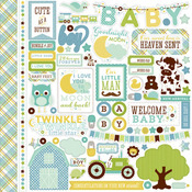 Bundle Of Joy Two - Boy - Element Stickers - Echo Park