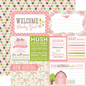 Welcome Baby Girl Paper - Bundle Of Joy Two - Girl - Echo Park