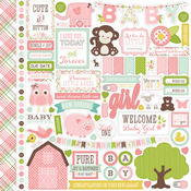 Bundle Of Joy Two - Girl - Element Sticker Sheet - Echo Park
