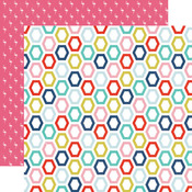 Happy Hexagons Paper - Anything Goes - Echo Park