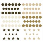 Natural Epoxy Dots & Shapes Stickers - KaiserCraft