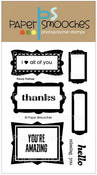 Fancy Frames Clear Stamps - Paper Smooches