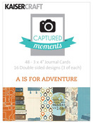 A Is For Adventure 3 x 4 Captured Moments Double Sided Cards - KaiserCraft