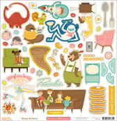 Saturday Mornings 12 x 12 Shape Stickers - October Afternoon