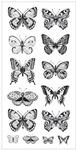 Butterflies Clear Stickers - Delicate Words - KaiserCraft