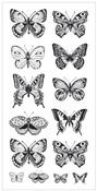 Butterflies Clear Stickers - Delicate Words - KaiserCraft