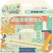 Hello World Travel Mixed Bag - My Minds Eye