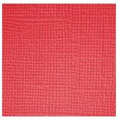 Cherry  Textured 12x12 Cardstock - Doodlebug