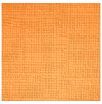 Tangerine  Textured 12x12 Cardstock - Doodlebug