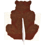 """8""""X6.9"""" 10 Count - Brown Bear Framous Plastic Canvas Kit"""