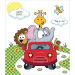 "11""X14"" 14 Count - Animal Fun Ride Birth Record Counted Cross Stitch Kit"