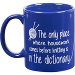 Dictionary - Knit Happy Blue Mug