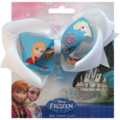"Elsa & Anna - Disney Frozen Grosgrain 1"" Ribbon Hair Bows"