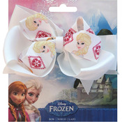 "Sisters - Disney Frozen Grosgrain 1"" Ribbon Hair Bows"