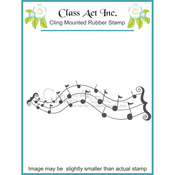 Scrolled Notes - Class Act Cling Mounted Rubber Stamp