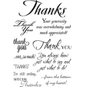 "My Sentiments Exactly Clear Stamps 4""X6"" Sheet - Thank You Innies & Outies"