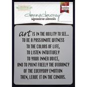 "Donna Downey Signature Stencils 8.5""X8.5""-Art Is"