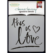 """Donna Downey Signature Stencils 8.5""""X8.5""""-This Is Love"""